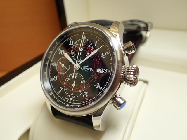 ダボサ 腕時計 DAVOSA Vintage Rally Pilot ヴィンテージラリーパイロット 161.008.56 メンズ 42mm 【正規輸入品】レーシンググローブを思わせるレザーストラップが秀逸なドライバーズウォッチ