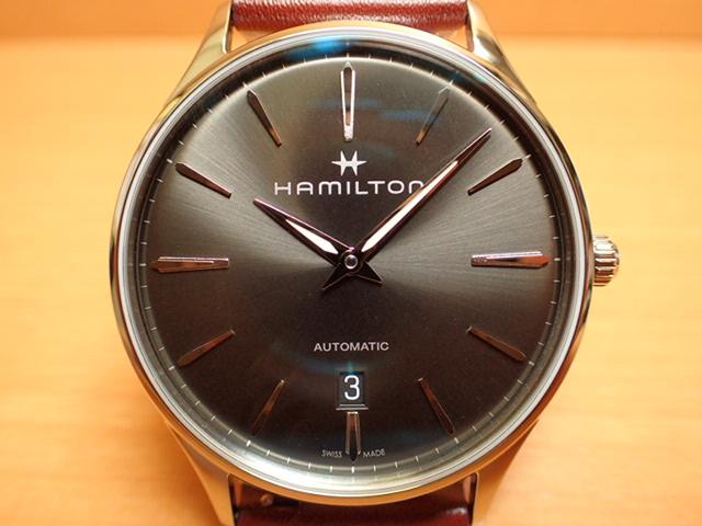 ハミルトン ジャズマスター シンライン オート メンズ レザー HAMILTON Hamilton Jazzmaster Thinline 40mm H38525881 【送料無料】 【正規輸入品】