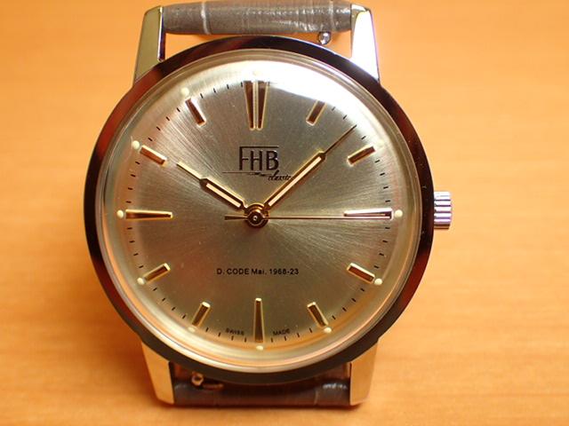 FHB エフエイチビー 腕時計 クラシックフレアーシリーズ Classic Flair Series F908SCY-GY 【正規輸入品】「ヴィンテージベーシック」由緒ある腕時計の基本形。FHBはフェリックス・フーバーの名を冠にして始まった腕時計ブランド。
