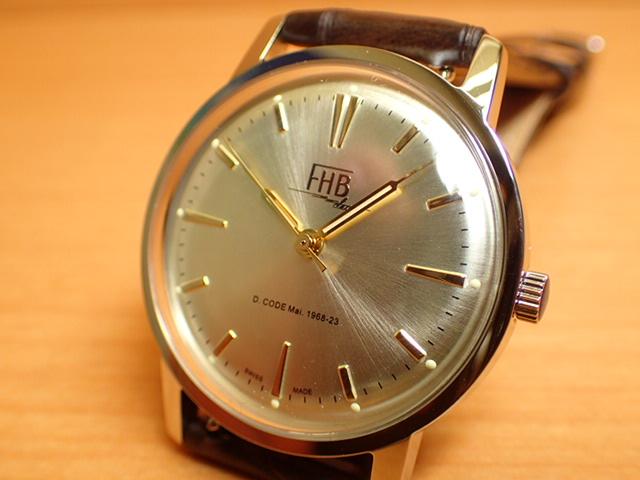 FHB エフエイチビー 腕時計 クラシックフレアーシリーズ Classic Flair Series F908SCY-BR 【正規輸入品】「ヴィンテージベーシック」由緒ある腕時計の基本形。FHBはフェリックス・フーバーの名を冠にして始まった腕時計ブランド。