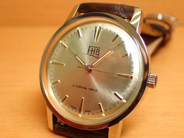 FHB エフエイチビー 腕時計 クラシックフレアーシリーズ Classic Flair Series F908SCS-BR 【正規輸入品】「ヴィンテージベーシック」由緒ある腕時計の基本形。FHBはフェリックス・フーバーの名を冠にして始まった腕時計ブランド。