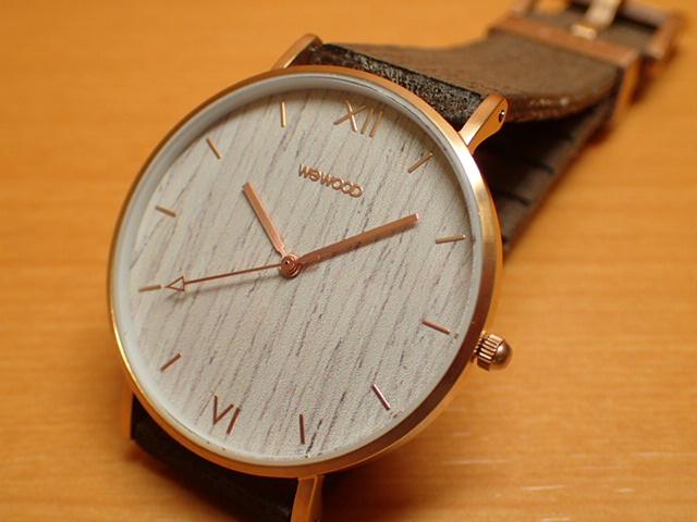 木の腕時計 ウィーウッド WEWOOD 腕時計 ウッド/木製 AURORA ROSEGOLD APRICOT 9818186 メンズ 【正規輸入品】