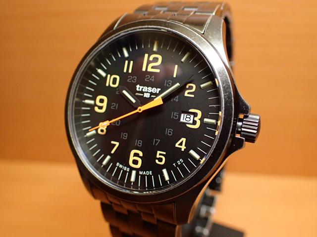 トレーサー腕時計 Traser Officer Gun Black Orange Steel ヴィンテージ加工 9031581 メンズ 【正規輸入品】優美堂の【トレーサー 腕時計】は、国内2年保証のついた日本正規品です。