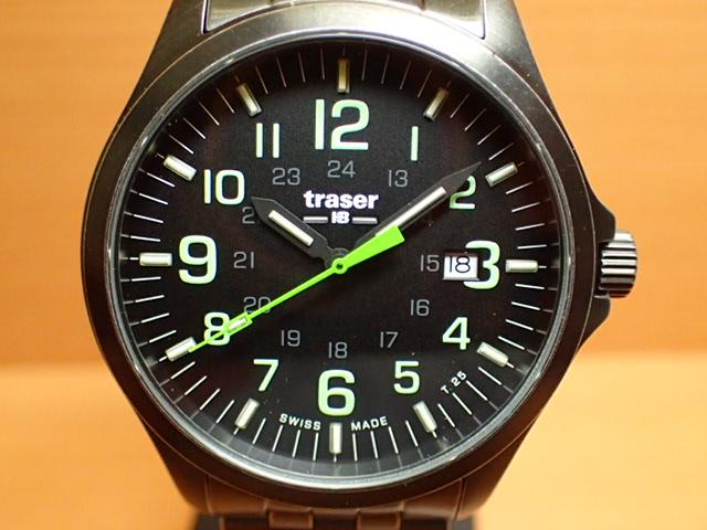 トレーサー腕時計 Traser Officer Gun Black Lime Steel ヴィンテージ加工 9031581 メンズ 【正規輸入品】優美堂の【トレーサー 腕時計】は、国内2年保証のついた日本正規品です。