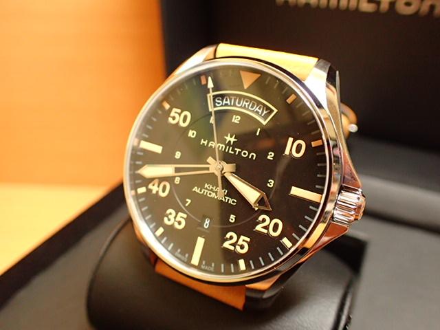 ハミルトン HAMILTON 腕時計 Khaki Pilot Day Date Auto カーキ パイロット デイデイト オート H64645531 メンズ 【送料無料】【正規輸入品】