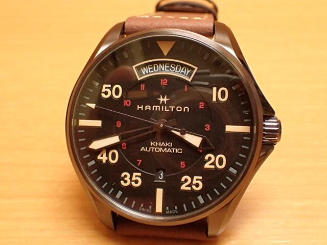 ハミルトン HAMILTON 腕時計 Khaki Pilot Day Date Auto カーキ パイロット デイデイト オート H64605531 メンズ【送料無料】 【正規輸入品】月々分割お支払でお求めください。