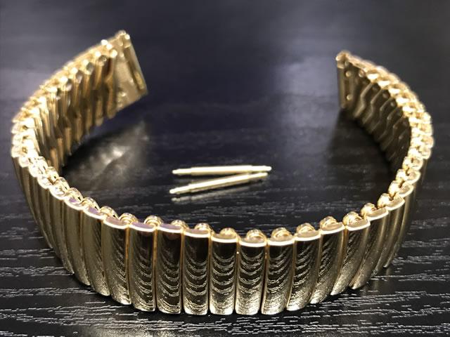 ハミルトン ベンチュラ ベルト 時計 純正 ステンレス スチール イエローゴールド色 フレックス ブレスレット 17mm HAMILTON H605243100 時計はついておりません。バンドのみの販売です