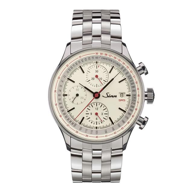 ジン Sinn 910.SRS ブレスレット仕様 腕時計 分割払いもOKですフライバック機能を備えたコラムホイール・クロノグラフ