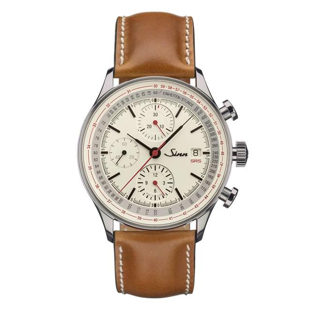 ジン Sinn 910.SRS ホースレザーストラップ仕様 腕時計 分割払いもOKです フライバック機能を備えたコラムホイール・クロノグラフ