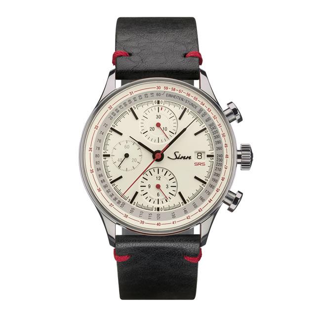 ジン Sinn 910.SRS カウレザーストラップ仕様 腕時計 分割払いもOKです フライバック機能を備えたコラムホイール・クロノグラフ