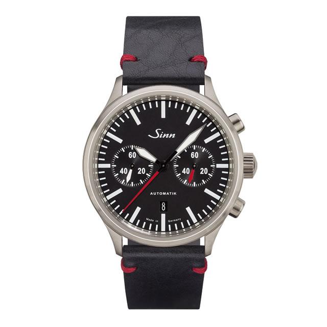 ジン Sinn 936 カウレザーベルト仕様 腕時計 分割払いもOKです 60分積算計を搭載したバイコンパックス・クロノグラフ