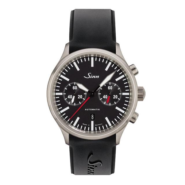 ジン Sinn 936 シリコンストラップ仕様 腕時計 分割払いもOKです 60分積算計を搭載したバイコンパックス・クロノグラフ