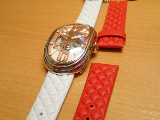 グリモルディ腕時計 G.T.O. 交換用バンドつき 腕時計 メンズ GRIMOLDI Gran Tipo Ovale SSSHWH612PK1962年~1964年にわずかに製造されたフェラーリ250GTOにオマージュした腕時計