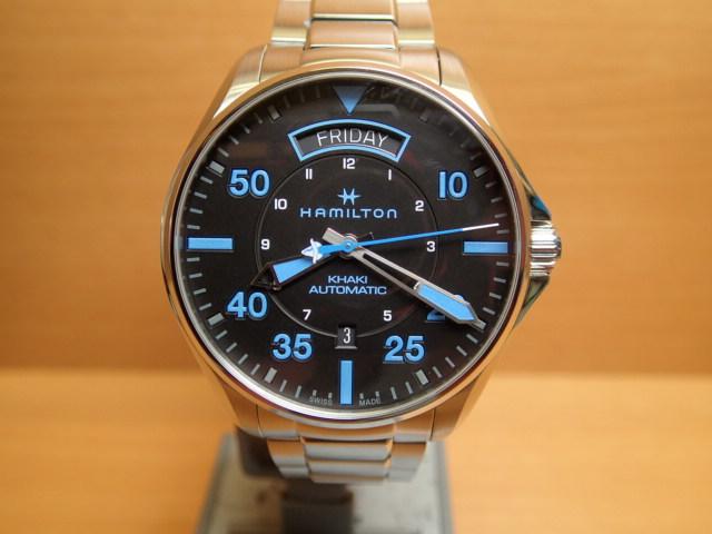ハミルトン 時計 HAMILTON 腕時計 Khaki Pilot Day Date Auto カーキ パイロット デイデイト オート H64625131 メンズ 送料無料 正規輸入品 分割払い可