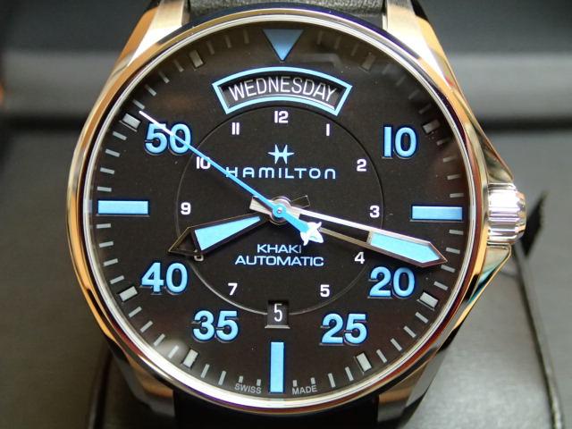 ハミルトン HAMILTON 腕時計 Khaki Pilot Day Date Auto カーキ パイロット デイデイト オート H64625731 メンズ 【送料無料】【正規輸入品】月々分割お支払でお求めください。