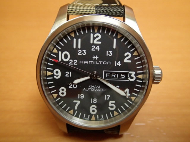 ハミルトン カーキ フィールド デイデイト 腕時計 H70535031 メンズ 【正規輸入品】 優美堂 分割いもOKできますよ。【送料無料】