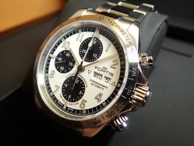 フォルティス 100本 限定品 FORTIS クラシック・コスモノート スチール リミテッド・エディション 42mm 腕時計 Ref.401.21.72M