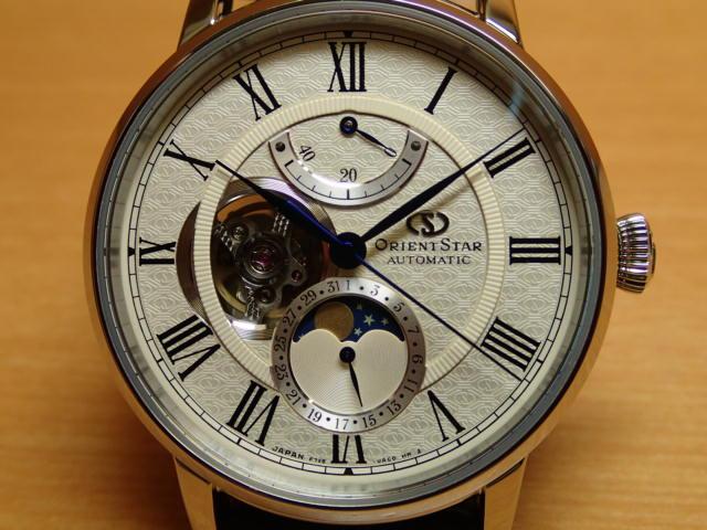 オリエントスター メカニカルムーンフェイズ 機械式 自動巻(手巻付) プレステージショップ限定品 ORIENT STAR RK-AM0007Sオリエントスター初の機械式月齢時計、オリエントスター「メカニカルムーンフェイズ」誕生