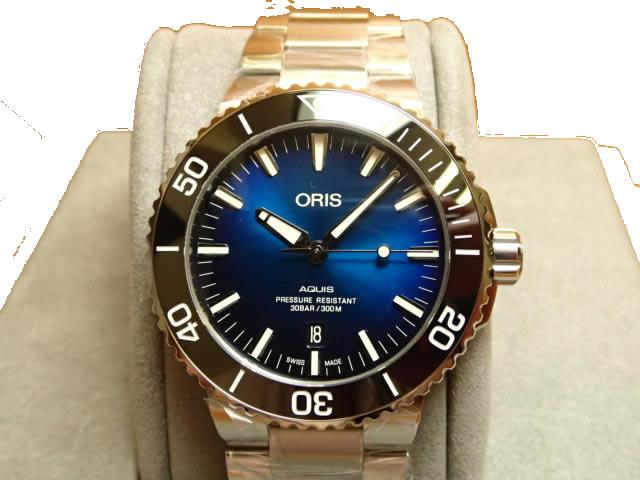 オリス アクイス クリッパートン リミテッドエディション 世界2000本限定 腕時計 Oris Aquis Clipperton Limited Edition 73377304185M 【送料無料】【正規輸入品】ブルー(ネイビー)ダイヤル メタルブレスレット