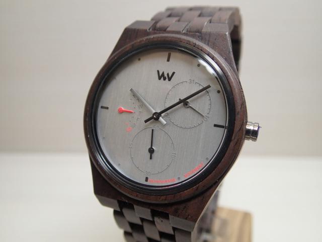 木の腕時計 ウィーウッド WEWOOD 腕時計 ウッド/木製 RIDER NUT BLACK 9818198 グレー文字盤 レディースサイズ バネ式両開きバックル 【正規輸入品】