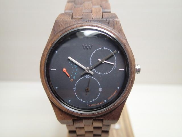 木の腕時計 ウィーウッド WEWOOD 腕時計 ウッド/木製 RIDER NUT BLACK 9818197 ブラック文字盤 レディースサイズ バネ式両開きバックル 【正規輸入品】