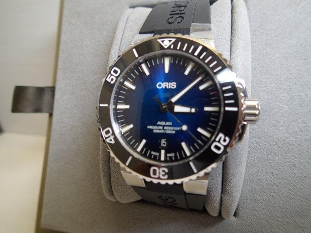 オリス アクイス クリッパートン リミテッドエディション 世界2000本限定 腕時計 Oris Aquis Clipperton Limited Edition 73377304185 【送料無料】【正規輸入品】ブルー(ネイビー)ダイヤル ラバーベルト