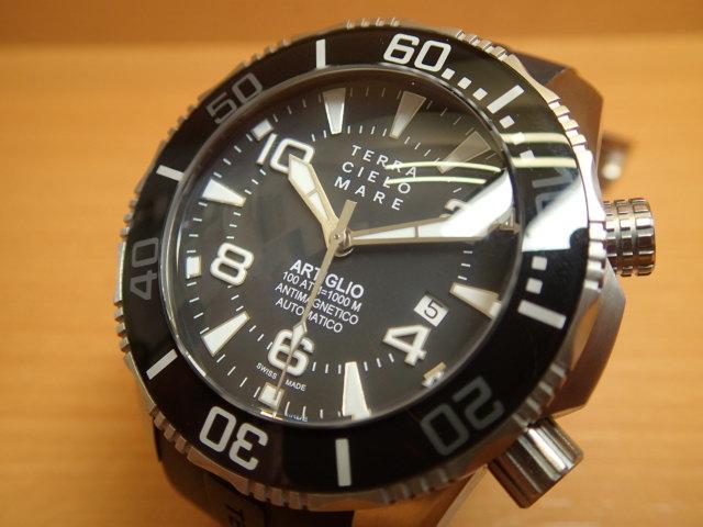 テッラ チエロ マーレ 腕時計 TERRA CIELO MARE ARTIGLIO BLACK アルティグリオ ブラック 自動巻き Ref.TC7033AC3PA