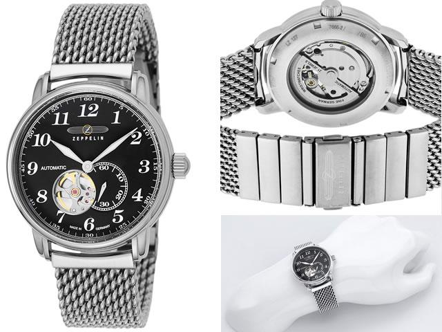 ツェッペリン 腕時計 ZEPPELIN LZ126 LosAngeles 7666M2 メンズ 【正規輸入品】 セミスケルトン仕様の自動巻き最新作