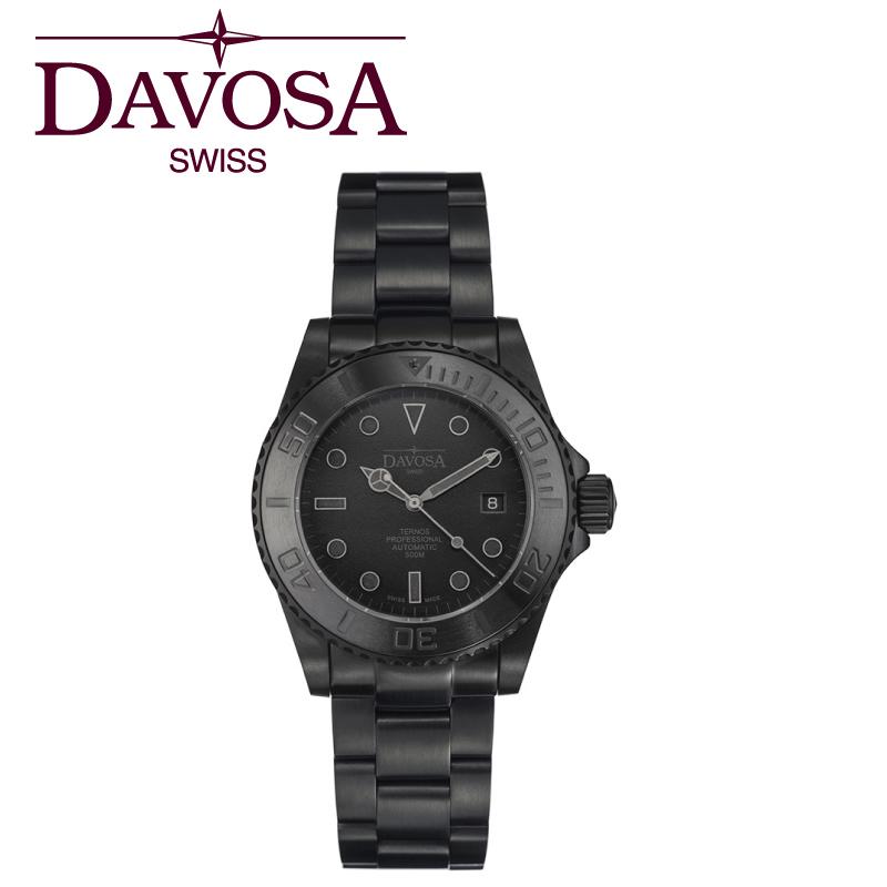 ダボサ 腕時計 DAVOSA Ternos Pro Blacksuit 161.583.50 メンズ 42mm 【正規輸入品】そのデザインと品質、機能性で人気のTernos Professionalシリーズから、世界500本限定のBlacksuit Limited Edition