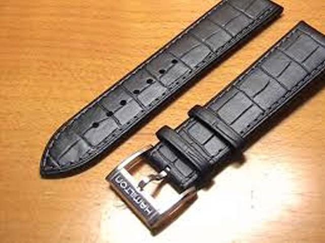 HAMILTON ハミルトン 時計 ベルト バンド ジャズマスター用 交換バンド 牛革 22mm ブラック(黒色) H600326104