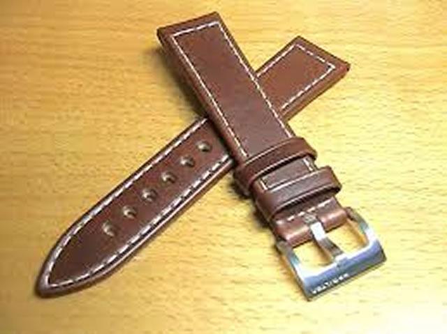 HAMILTON☆ハミルトン☆カーキシリーズ用 交換時計 ベルト バンド 牛革 20mm ブラウン (茶色) H600704104