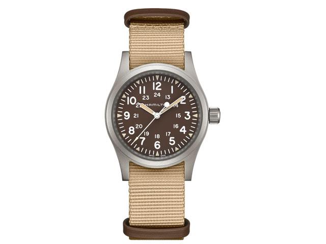 ハミルトン カーキ フィールド メカ 腕時計 38mm パワーリザーブ80時間 メンズサイズ H69439901 【文字盤カラー ブラウン】 【手巻き式】 優美堂 分割いもOKできますよ。【送料無料】
