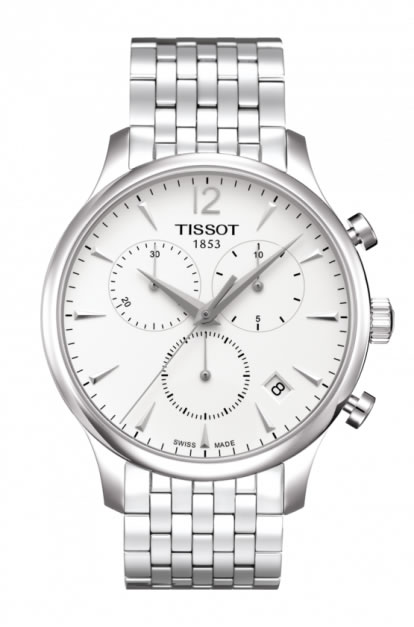 ティソ 時計 腕時計 トラディション クロノグラフ ホワイト文字盤 T0636171103700 メタルブレスレット メンズ TISSOT TRADITION Chronograph 正規輸入品