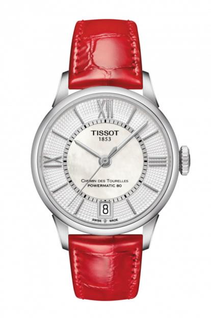 ティソ 時計 TISSOT 腕時計 ティソ 時計 シュマン・ド・トゥレルパワーマティック80 レッドレザーベルト レディース T099.207.16.118.00 正規輸入品 分割払い可