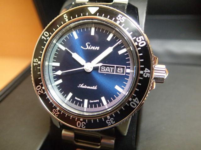 ジン 腕時計 SINN 104.ST.SA.I.B M ジンの基本精神に基づき製作されたパイロットクロノグラフ103シリーズの三針タイプ