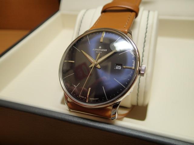ユンハンス マックスビル バイユンハンス メガ 電波腕時計 max bill mega 38mm 058.4801.00 正規輸入商品