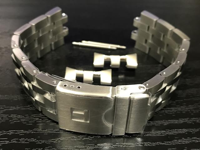 TISSOT☆ティソ☆純正時計ベルト シースター1000 パワーマティック80 裏ブタ番号 T120407A専用 ステンレススチールブレスレット 20mm 腕時計用 時計ベルト 時計用バンド T605042425