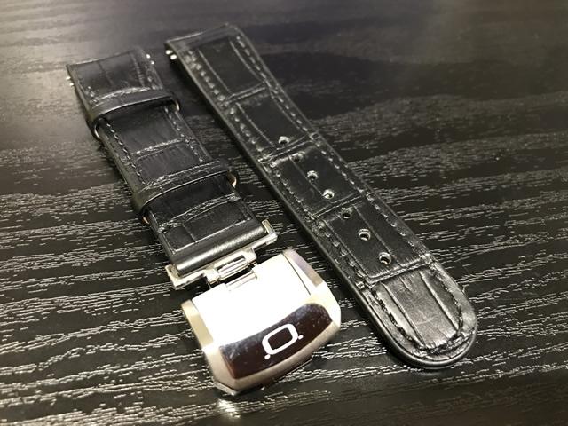NOA ノア 腕時計 純正 カーフ(牛革) 型押し ベルト バンド 22mm のみの販売です。 バタフライバックルつき 【正規輸入品】