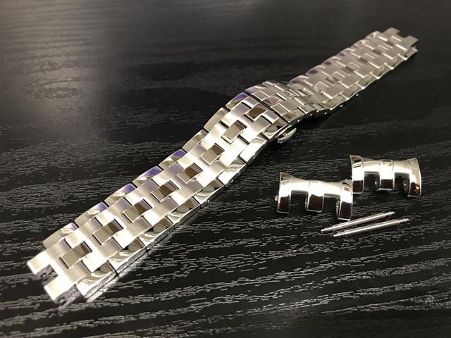 HAMILTON☆ハミルトン☆ジャズマスター クォーツ クロノ専用 メタルブレスレット 腕時計バンド ベルト メタルバンド H605326100 全国送料180円のメール便がご利用いただけます。