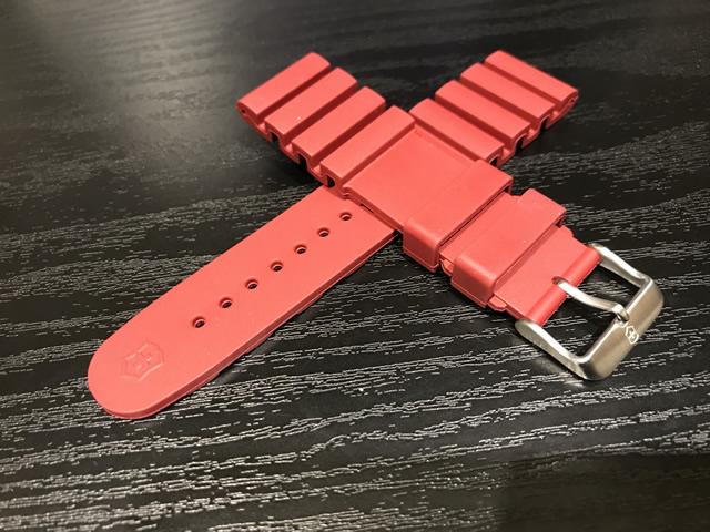 VICTORINOX ビクトリノックス INOX Professional Diver イノックス プロフェッショナルダイバーズ 専用 ラバー ベルト 腕時計 22mm ベルト バンド ストラップ バネ棒つき