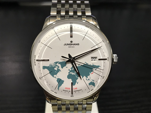 ユンハンス マイスター メガ ジャパン リミテッド 世界限定202本 電波腕時計 Meister MEGA Japan Limited 2020 38.4mm 058.4803.75 正規輸入商品