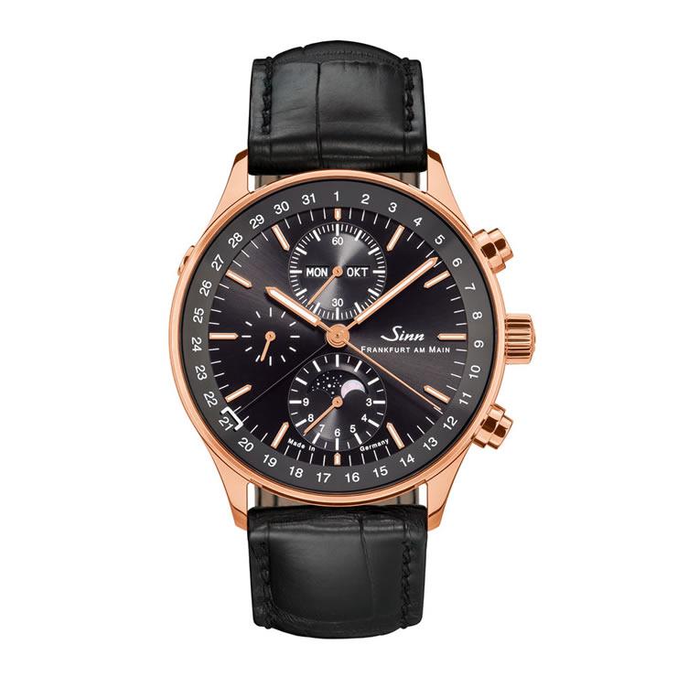 ジン 腕時計 世界限定50本 Sinn 6012.RG.JUB 18Kローズゴールドケースで色違いのアリゲーターストラップ1本つき 正規メーカー保証5年 分割払いもOKです