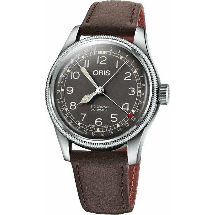 オリス 時計 ビッグクラウン ポインターデイト 40mm メンズサイズ ブラック文字盤 腕時計 75477414064 レザーストラップ 送料無料 正規輸入品