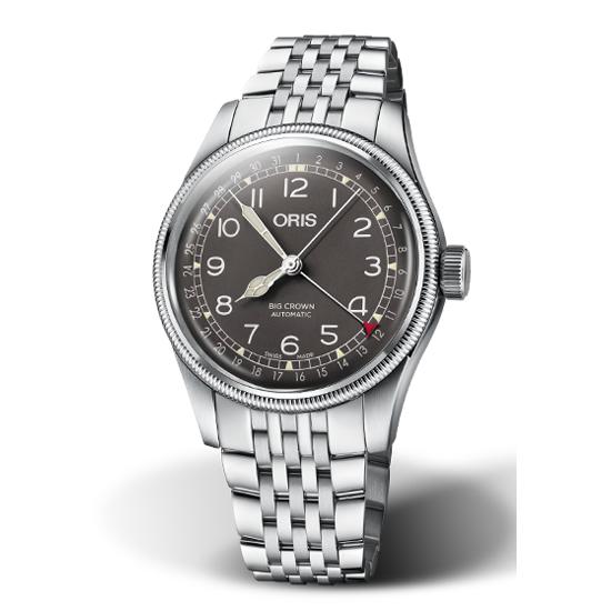オリス ビッグクラウン ポインターデイト 40mm メンズサイズ ブラック文字盤 腕時計 75477414064M メタルブレスレット 【送料無料】 【正規輸入品】