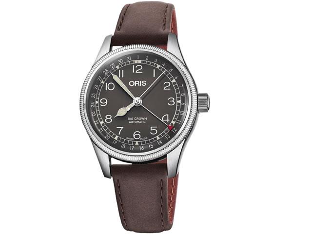 オリス ビッグクラウン ポインターデイト 36mm ビンテージボーイズサイズ ブラック文字盤 腕時計 75477494064 レザーベルト 【送料無料】【正規輸入品】
