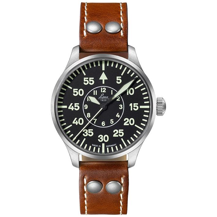 ラコ 腕時計 Laco パイロットウォッチ 861990 Aachen39 アーヘン 39mm 自動巻優美堂のLaco ラコ腕時計はメーカー保証2年つきの正規販売店商品です。