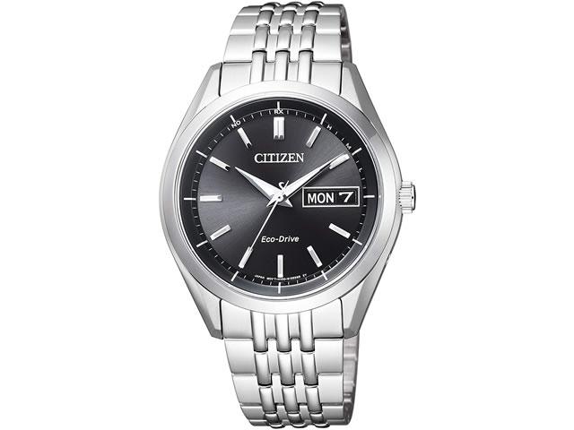 シチズン CITIZEN 腕時計 CITIZEN COLLECTION シチズンコレクション エコ・ドライブ電波時計 AT6060-51E ブラック文字盤 メンズサイズ ※時計業界初となるエコマークアワード2014「金賞」受賞