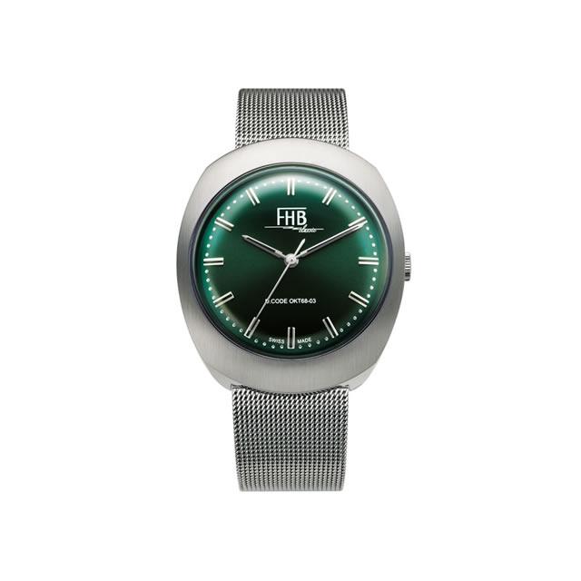 FHB エフエイチビー 腕時計 ノア シリーズ NOAH Series F930GN-MT グリーン文字盤 【正規輸入品】F930は1968年のデザインを復刻 アンティーク感を漂わせるクラシカルなデザインの中にもどこか新しさを感じさせるシリーズです