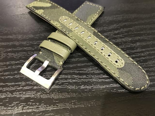 ハミルトン ベルト 時計 カーキシリーズ用 20mm 迷彩 カモフラージュ キャンバス地 テキスタイル 布 時計ベルト バンド 20mm HAMILTON H690705123