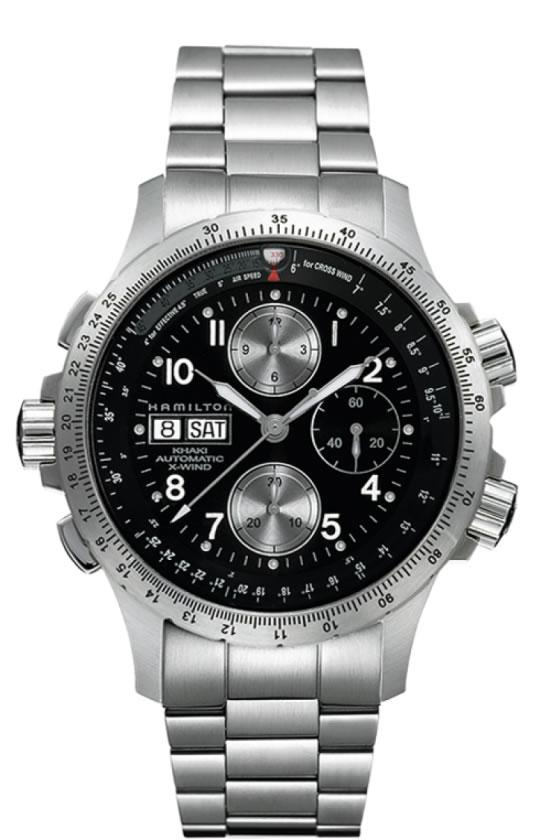 ハミルトン 腕時計 HAMILTON カーキ X-ウインド SSブレス H77616133 【文字盤カラー ブラック】 【自動巻き】 ステンテススチールブレスレット【送料無料】